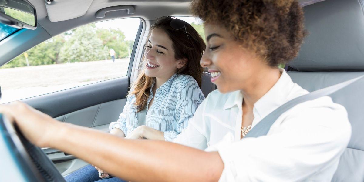 Friends Listening in Car